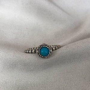 Pandora birthstone ring- turquoise size 7.5
